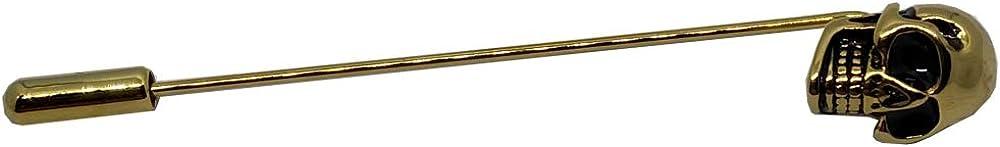 D&L Menswear Gold Plated Skull Lapel Pin