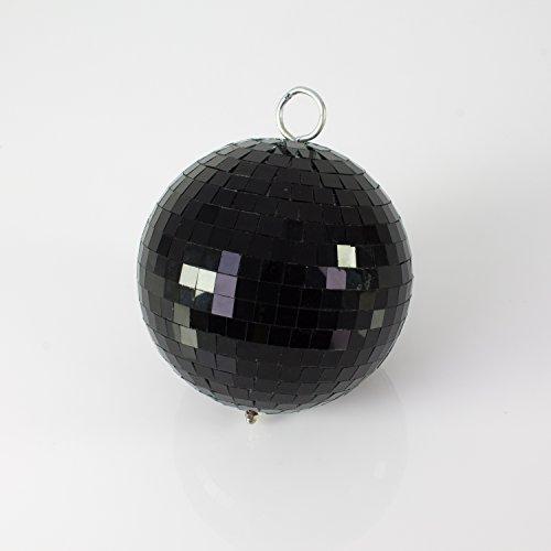 showking Discokugel Noir mit Echtglasfacetten, Ø 20cm, schwarz - Schwarze Disco Kugel