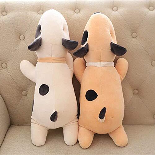 Nette weiche Bullterrier Hund Plüschtier Kuscheltiere Kissen Puppe Kinder Kinder Geburtstag Freundin Geschenk 55CM Brown-55CM_White