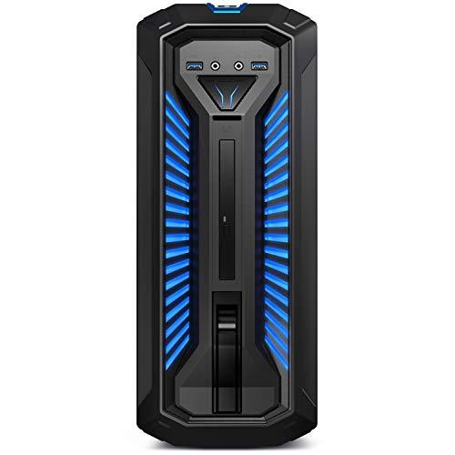 MEDION ERAZER Bandit P10 Gaming Desktop PC (Intel Core i7-10700, 16GB DDR4 RAM, 1TB HDD, 512GB PCIe SSD, NVIDIA GeForce GTX 1660 SUPER 6GB GDDR6, DVD, Hot-Swap, WLAN, Win 10 Home)