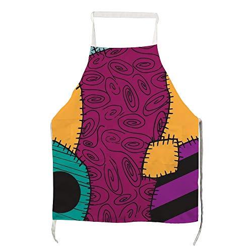 Schürze Nightmare Before Christmas Sally Muster für Männer und Frauen zum Kochen, Grillen und Backen mit Taschen