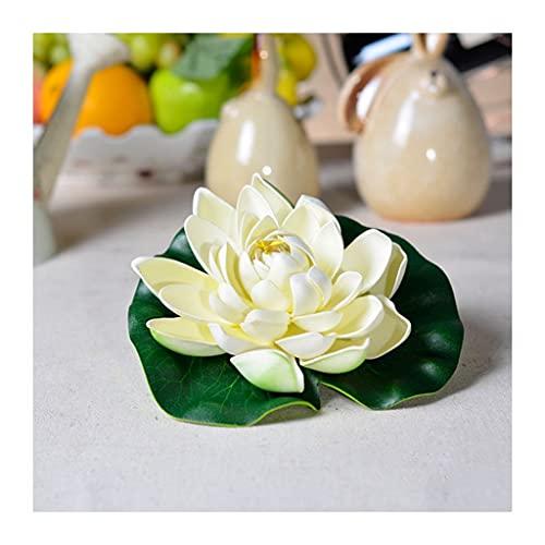 Blumensträuße aus Kunststoff Künstliche Blumen 10 stücke Künstliche Lotus Realistische Wasser Lilie Pads Blätter Floating Foam Lotusse für Garten Koi Fischteich Aquarium Pool Hochzeitsdekor Gefälschte