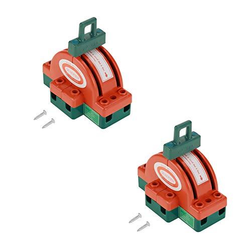 xuuyuu ナイフスイッチ 2極 安全遮断スイッチ 切換カバースイッチ 両面電子オープニング 回路制御 220V 32A 4本ネジ付き
