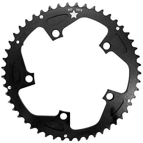 USAMade 130mm BCD 5-Bolt SharkTooth Pro CXR Road/Cross Chainring Made in USA (38 Tooth)