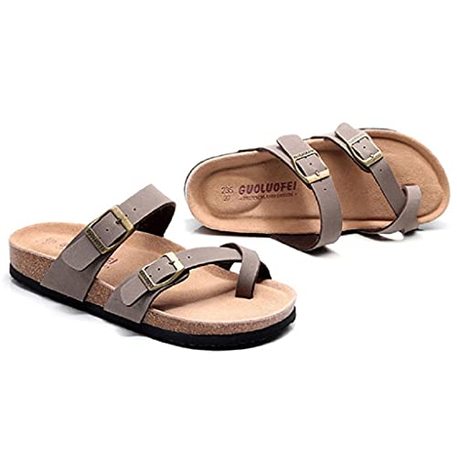 Sandalias De Punta Abierta para Mujer, Correas Cruzadas, Plataforma Alpargatas Mulas Cuña, Sandalia, Chanclas Zapatos Verano Moda con Espalda Descubierta (Color : Brown, Size : 43EU)