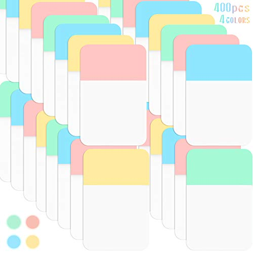 Sticky Index Tabs Page Marker Pop-up Page Flags Sticky Notes Tabs 1.6 x 1 Inch, Yellow, Pink, Blue, Green (400 Pieces)