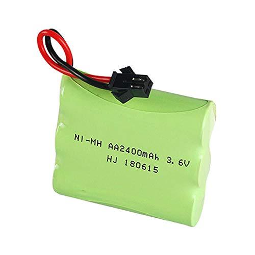 Juego de cargador de batería de 3,6 V 2400 mAh para juguetes Rc, tanque de coche, tren, Robot, pistola, piezas AA, batería recargable de 3,6 V para barcos RC-CHINA_azul