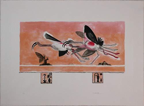 Graham Sutherland, Ibis, 1978, Aguafuerte aguatinta firmada y numerada