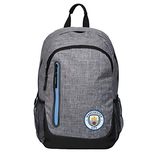 FOCO Manchester City FC Heather Grey Laptop Backpack