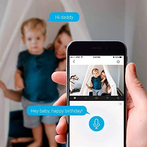 EZVIZ C6CN Telecamera di Sorveglianza 1080p, Telecamera Wi-Fi Interno, Copertura visiva a 360°, Audio Bidirezionale, Maschera Intelligente della Privacy, Tracciamento del Movimento, Cloud, Alexa