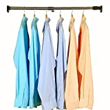 Baoyouni 25.4mm Adjustable Shower Curtain Rod Tension Rail for Bathroom Wardrobe Kitchen Balcony (Grey, 28 - 47 Inches)