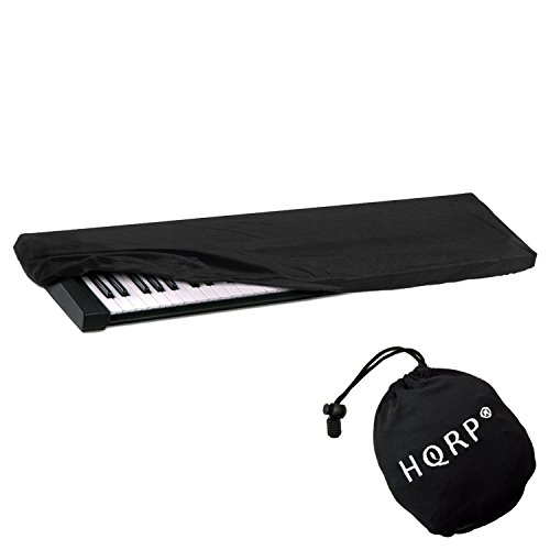 HQRP Elastic Keyboard Dust Cover compatible with Ensoniq 61-Key 76-Key ESQ-1, Halo, Mirage Digital Piano Synthesizer + HQRP Coaster
