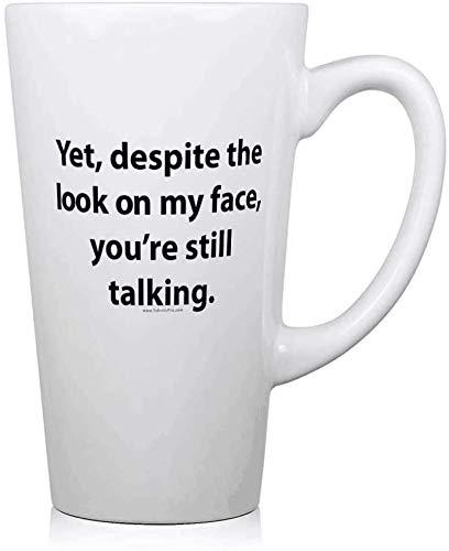 jifyasuo myface.PNG Taza de café de cerámica Taza Divertida Vaso de Leche Grande Taza de Agua Regalo de cumpleaños de 17 oz Regalo de San Valentín