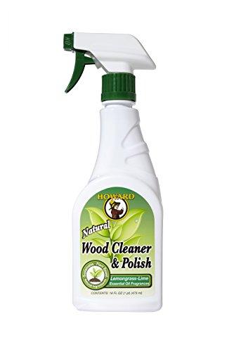 Howard wc5012 473 ml/16 oz natuur, citroengras en limoen polijstmiddel trigger spray hout reiniger