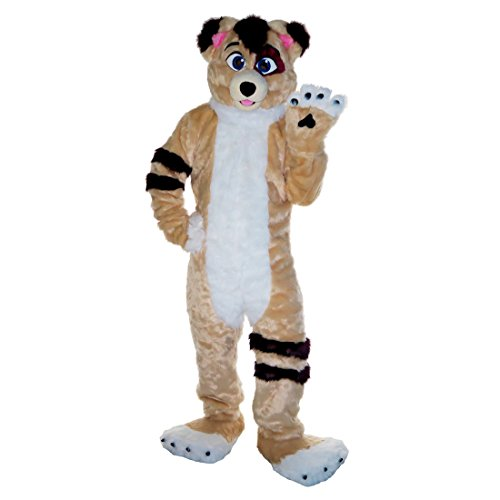 Langteng Brown Fox Wolf Husky Dog Cartoon Mascot Costume Adult Cosplay Party Halloween Dress Up