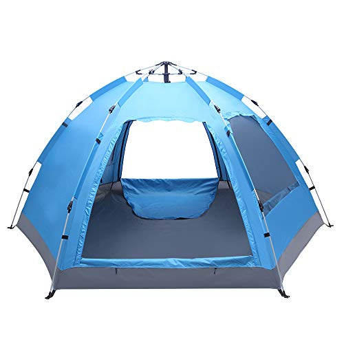 Bonnlo 3-4 Person Automatic Family Tent Easy Setup, Instant Pop Up Shelter...