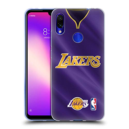 Head Case Designs Oficial NBA Road Jersey 2018/19 Los Angeles Lakers Carcasa de Gel de Silicona Compatible con Xiaomi Redmi Note 7/7 Pro