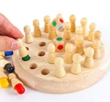 Have Fun & Learn Together: Children can easily improve their memories and learn colors with this board game. You can have fun and facilitate your children's learning while having fun playing a game with them. Safe & Durable: The memory games is made...