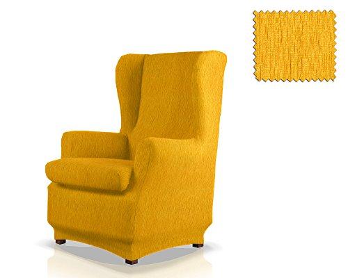 JM Textil Copripoltrona Elastico con Orecchie Haber Dimensione 1 Posto (Standard), Colore 05 (Vari Colori Disponibili.)
