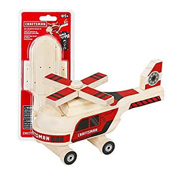 Craftsman Woodworking Helicopter Project Kit for Kids Educational Toy Realistic Carpentry Helicopter Construction Take-along Gift for Boys & Girls Age 5+