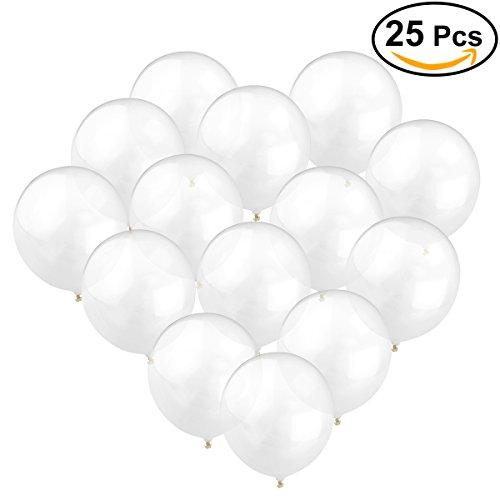 NUOLUX 25pcs 12 pulgadas Globos de látex color transparente del Ballon 3g