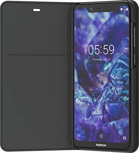 Original Nokia 8P00000015 Entertainment Flip-Cover 'CP-251' für Nokia 5.1 Plus Schwarz