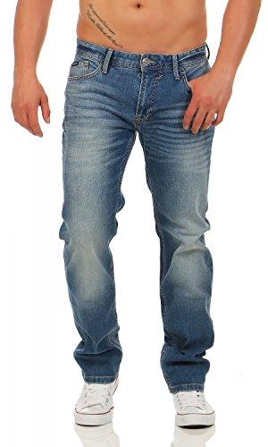 Big Seven Morris Blue Indigo Denim Regular Herren Jeans, Hosengröße:W44/L32