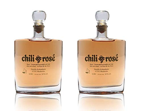 Destille Kaltenthaler Chili Rosé Trauben-Likör mit Chili süß und scharf - 2 x 0,5l
