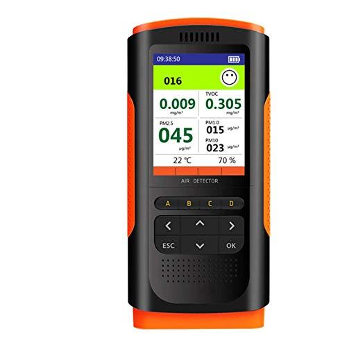 YOGANHJAT CO2-Messgerät kohlendioxid detektor, mit 1200 mAh wiederaufladbarer Lithium Batterie Digitalanzeige Hochgenauer Handkohlendioxid-Detektor für Luftqualitäts Detektor Monitor