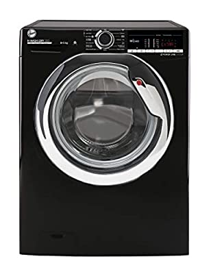 Hoover H-Wash 300 H3DS4855TACBE Freestanding Washer Dryer, WiFi Connected, 8 kg/5 kg, 1400 rpm, Black