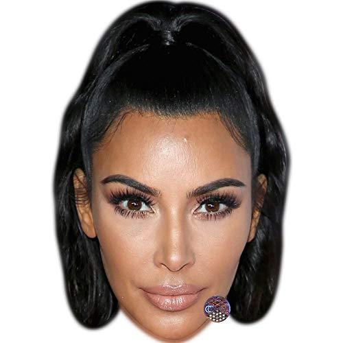 Celebrity Cutouts Kim Kardashian (Black Hair) Maske aus Karton