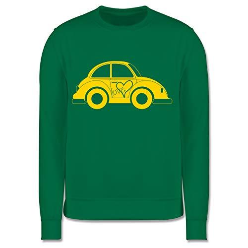 Shirtracer Fahrzeuge Kind - Liebes Beetle Auto - 104 (3/4 Jahre) - Grün - Pullover - JH030K - Kinder Pullover