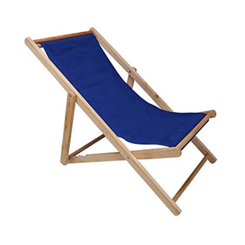 YQ WHJB Al Aire Libre Garden Sun Lounger,Silla Wood Beach Ajustable Portátil Silla Plegable para Patio Jardín Piscina,Lona Impermeable