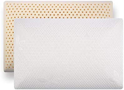 QIQIHOME Slim Sleeper Natural Latex Foam Pillow Extra Thin Ventilated Low Profile 23 X 15 X product image