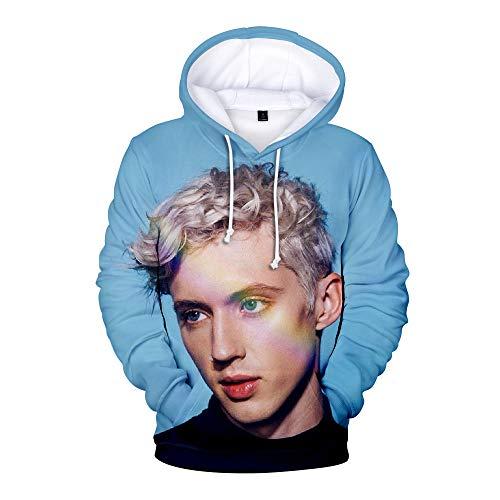 MissAc Herren Pullover Hoodie Troye Sivan Bedrucktes Freizeit Sweatshirt Übergröße Tops Kapuzen Sweatshirt