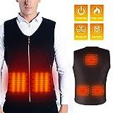Maibtkey Heated Vest, Washable USB Charging Electric Heated Jacket for Men Women, 3