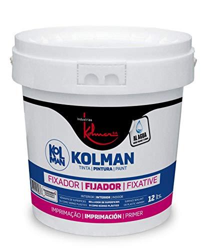 Kolman Fijador al agua Transparente. selladora y fijadora de paredes y techos para interior y exterior (750 ml.)