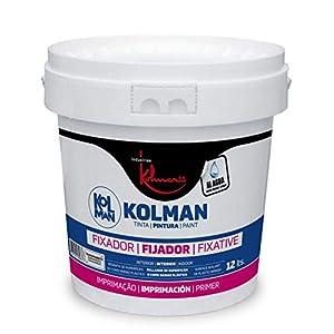 Kolman Fijador al agua Transparente. selladora y fijadora de paredes y techos para interior y exterior (4 litros)