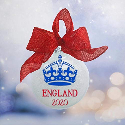 DONL9BAUER England Vacation Trip The Royal European Acrylic Christmas Ball Ornament, Christmas Bauble Tree Ornament with presents for Church Members,Holiday,Family & Friends.