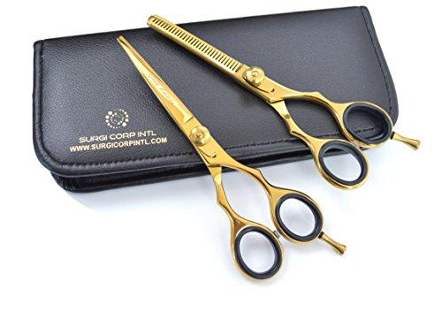 Tijeras de peluquería profesional tijeras de peluquería tijeras de peluquería tijeras de peluquería de peluquería de 14 cm de acero inoxidable dorado