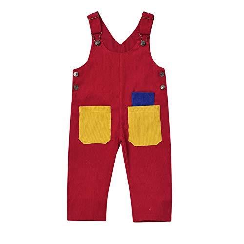 YWLINK Monos Para NiñOs Pantalones Para NiñAs Personalidad BebéS Para NiñAs Pantalones De Mezclilla Pantalones Sueltos Para NiñAs Bolsillos,Grandes Y Ajustables,Talla Grande, Elegante,De 1 A 6 AñOs