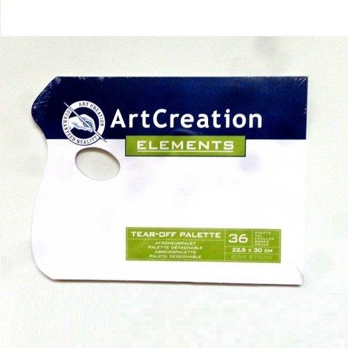 PALETA DESECHABLE DE 22.5X30 CM 36 UNIDADES ART CREATION
