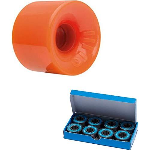 OJ Hot Juice Orange Skateboard Longboard Cruiser Wheels 60mm 78a (Set of 4) with CCS ABEC 7 Bearings