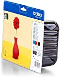 Brother Original Tintenpatronen LC-121 (schwarz, cyan, magenta, gelb) im Value-Pack (für Brother...