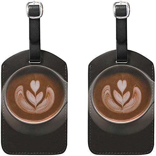 Kaffee-Haferl Gepäckanhänger Tasche Reiseetiketten für Gepäck Koffer 2 Stück