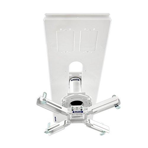 QualGear Pro-AV QG-KIT-S-3IN-W Projector Mount Kit Accessory Suspended Ceiling Adapter, 3' 1.5', White