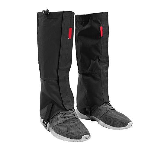 OhhGo Guêtres de Randonnée 1 Paire Jambières Étanche Protection Neige Pluie Boue pour la randonnée la Marche la Chasse lescalade Noir