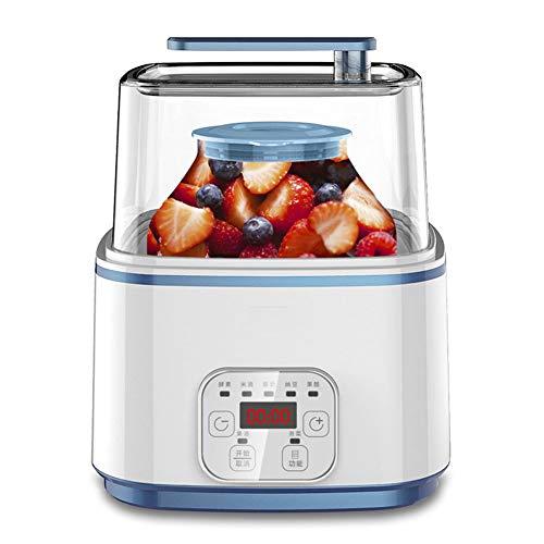 SJTL Yogurtera, MáQuina para Hacer Yogurt, Máquina de Yogurt Temporizador de 10 Horas & Pantal LCD, para Hacer Yogur DIY MáQuina para Yogur Casero y Natural