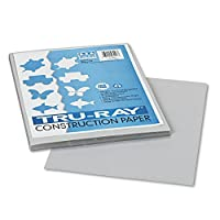Pacon 103027 - Tru-Ray Construction Paper, 34kg., 9 x 12, Grey, 50 Sheets/Pack