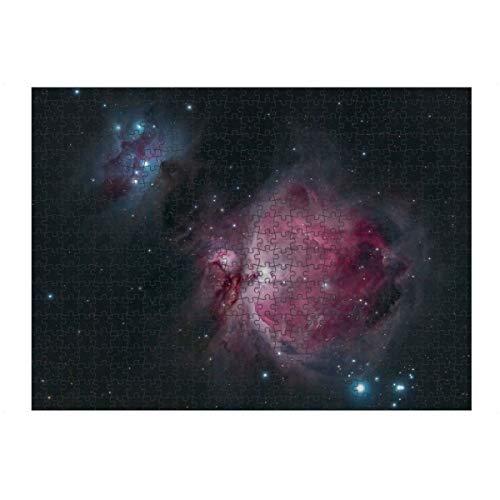 artboxONE Ravensburger-Puzzle L (500 Teile) Natur Orionnebel Messier 42' - Puzzle Orion Emissionsnebel Galaxie
